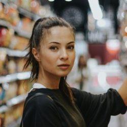 Girl in the shopping isle
